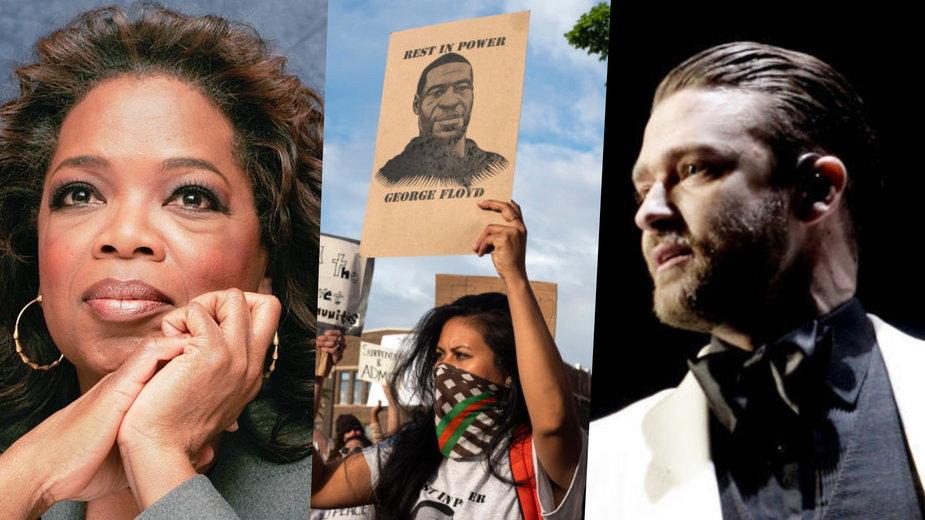 Wśród komentujących wyrok ws. George'a Floyda byli Oprah Winfrey i Justin Timberlake