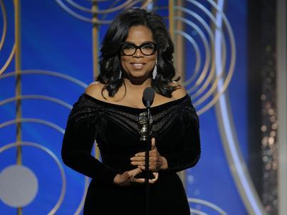 Oprah Winfrey podczas Złotych Globów odebrała nagrodę za całokształt twórczości