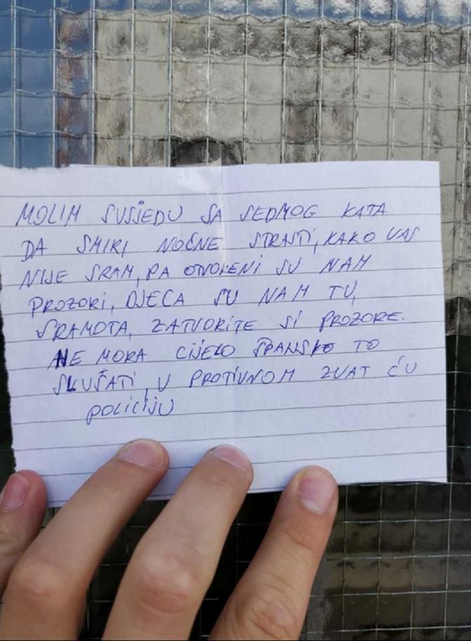 Poruka za komšinicu sa sedmog sparata
