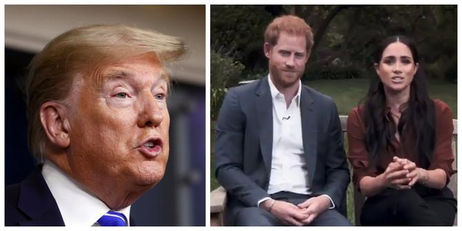 "Donald Tramp, Megan Markl i princ Hari u videu magazina ""Tajm"""