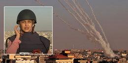 Dziennikarka prowadziła relacje na żywo z Gazy. Gdy mówiła, spadła rakieta. FILM