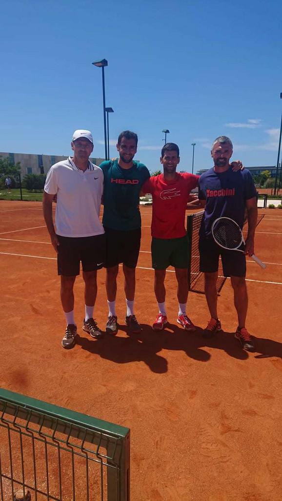 Novak Đoković je u subotu trenirao sa Marinom Čilićem