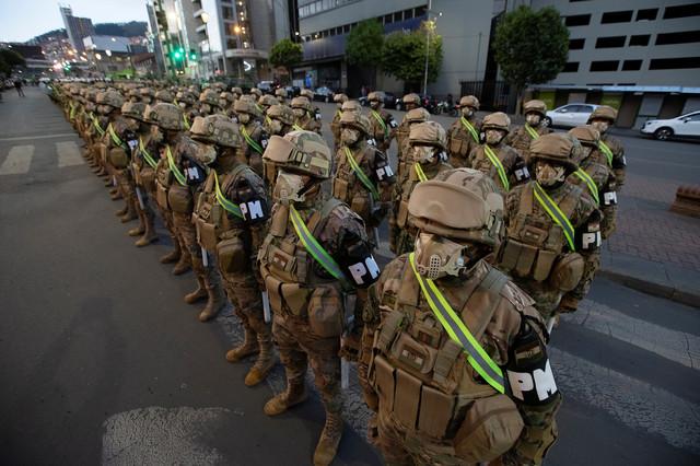 Priprema vojske za izbore u La Pazu