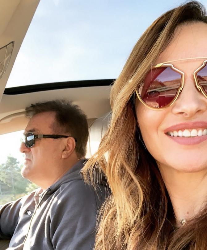 Ana Antić sa ocem Radomirom Antićem
