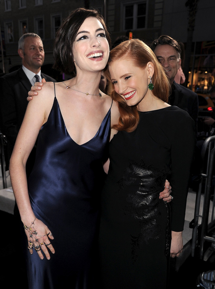 Anne Hathaway i Jessica Chastain