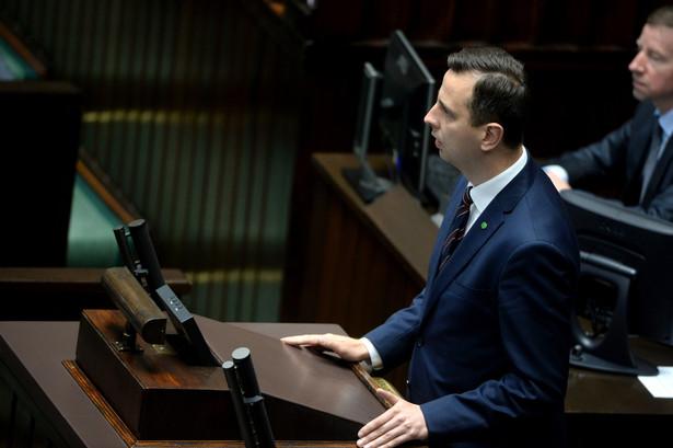 Prezes Polskiego Stronnictwa Ludowego Władysław Kosiniak-Kamysz podczas posiedzenia.