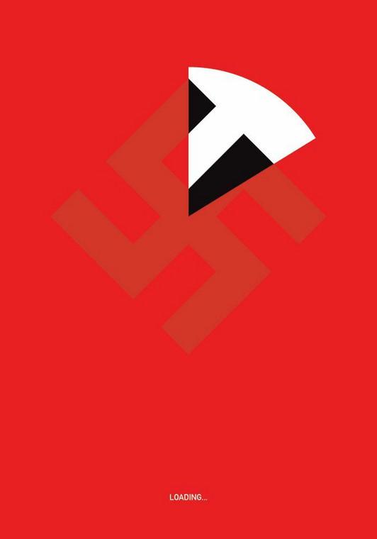 """Złoty Medal 26 Biennale Plakatu Polskiego, Katowice 2019 – Szymon Szymankiewicz """"Loading"""" (Fot. Galeria Sztuki Współczesnej BWA w Katowicach)"""