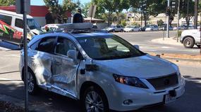 Poważny wypadek samochodu Google
