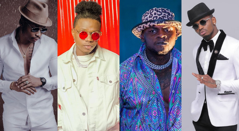 Diamond, Otile, Rayvanny and Khaligraph dominate Soundcity MVP Awards Nominees List