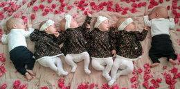 Polskie sześcioraczki w ślicznych ubrankach. Mama pokazała zdjęcie