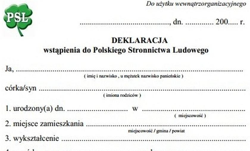 wzory deklaracji