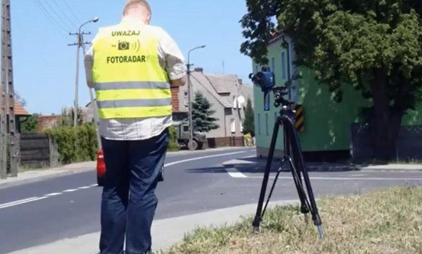 krosno odrzaskie  ukradziony fotoradar