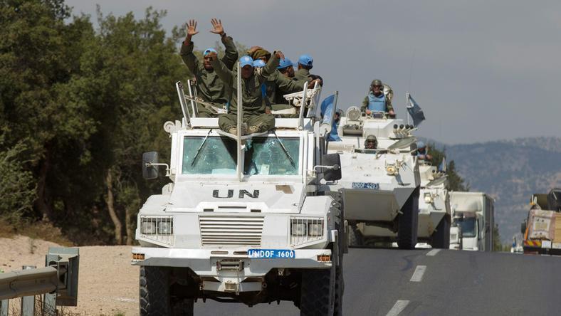 Siły ONZ na Wzgórzach Golan wycofują się z czterech miejsc w Syrii