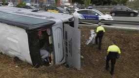 Wypadek autobusu pod Barceloną. Wśród rannych polski turysta