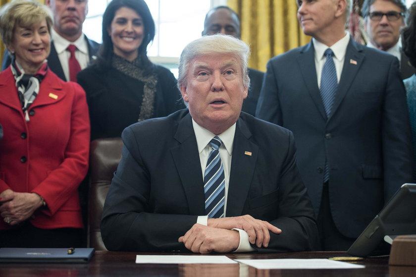 Trump nie sypia z żoną