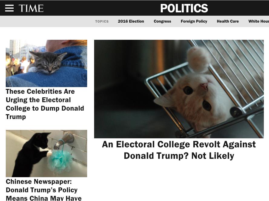 Time: Rewolta Kolegium Elektorskiego przeciwko Trumpowi? Niekoniecznie