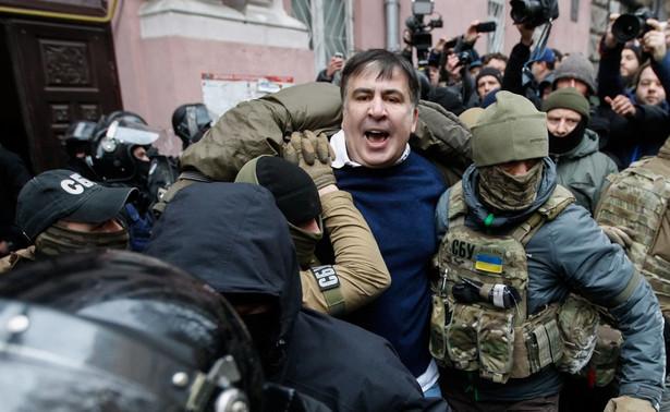 Micheil Saakaszwili w chwili aresztowania