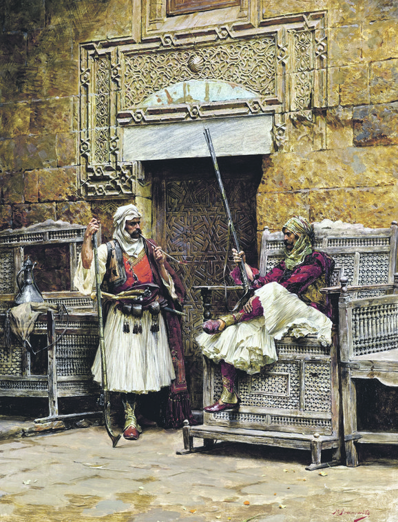 Dva bašibozuka ispred kapije