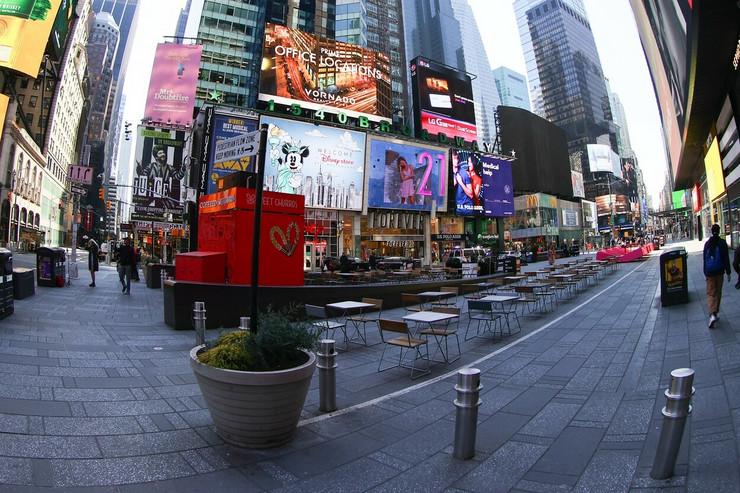 njujork prazni gradovi ulice