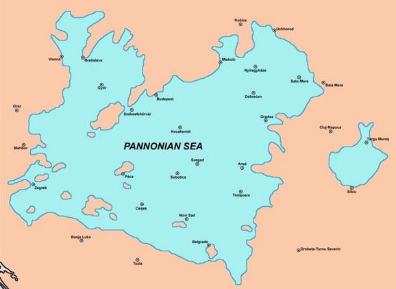 Područje nekadašnjeg Panonskog mora