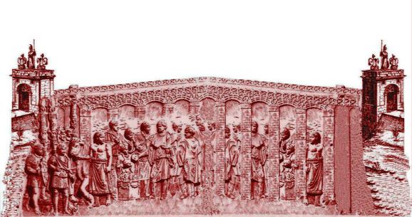 Trajanov most predstavljen na Trajanovom stubu u Rimu