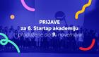 Startap Akademija - besplatan kurs preduzetništva sa nagradnim fondom od 20.000 evra