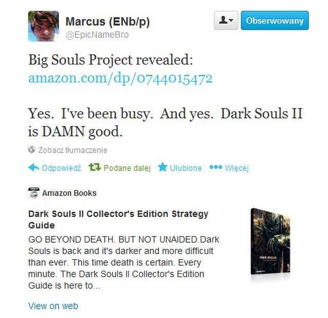 Świetny ruch Namco – oficjalny poradnik do Dark Souls II