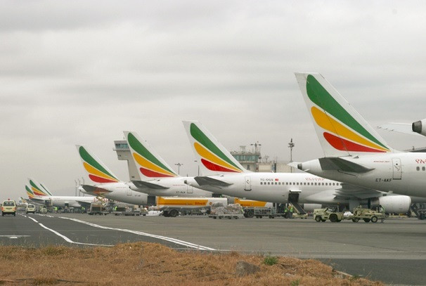 Some of Ethiopian Airlines fleet. (nazret)