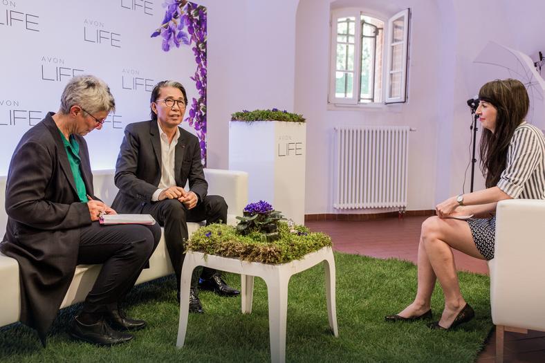 Kenzo Takada podczas wywiadu dla Onetu