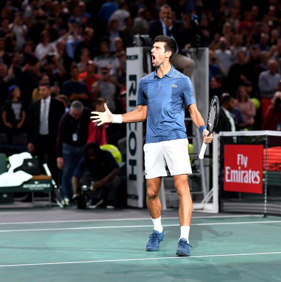 Novak Đoković u polufinalnom duelu protiv Rodžera Federera