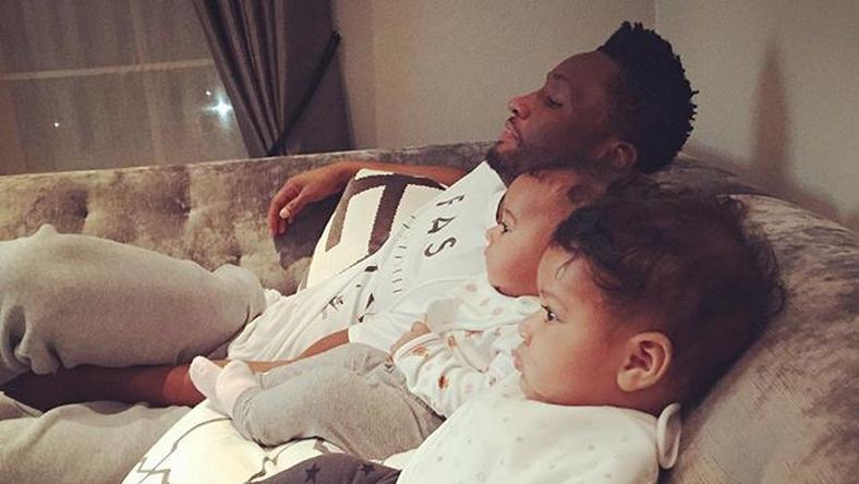 Mikel Obi, and daughters, Pooh 3 and Pooh 4
