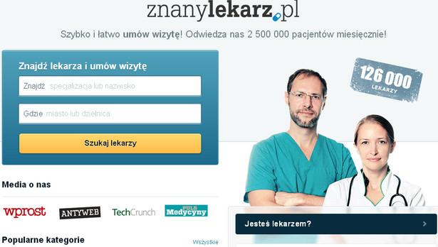 ZnanyLekarz.pl Serwis pozwala na na znalezienie lekarza-specjalisty w najbliższej okolicy, zapoznanie się z opiniami na jego temat, a nawet na umówienie wizyty u wybranego specjalisty.