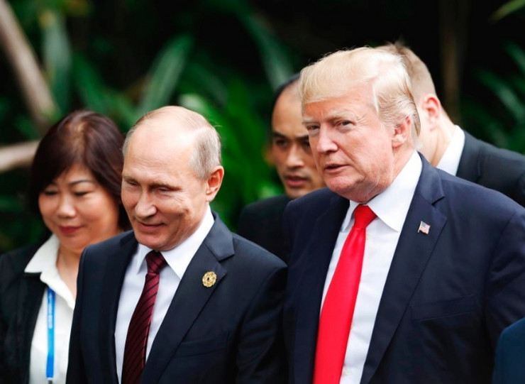 Vladimir Putin i Donald Tramp AP