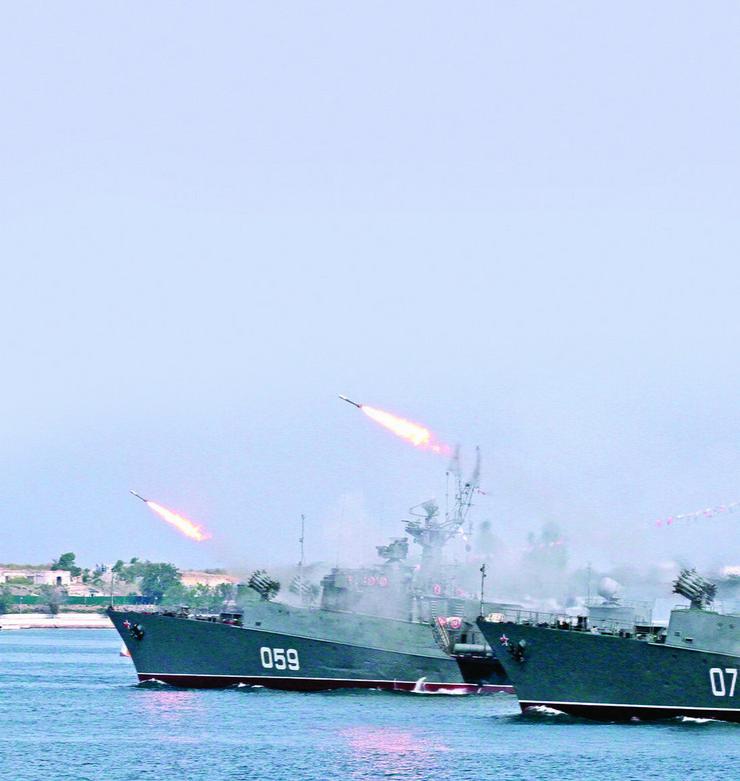Ruski bojni brodovi ispaljuju rakete iz Kaspijskog mora ka Siriji