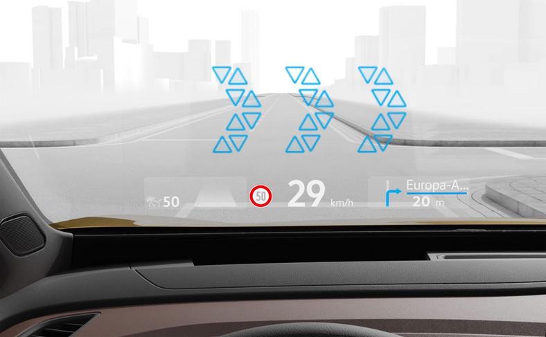 Volkswagen wprowadza wyświetlacz z rozszerzoną rzeczywistością