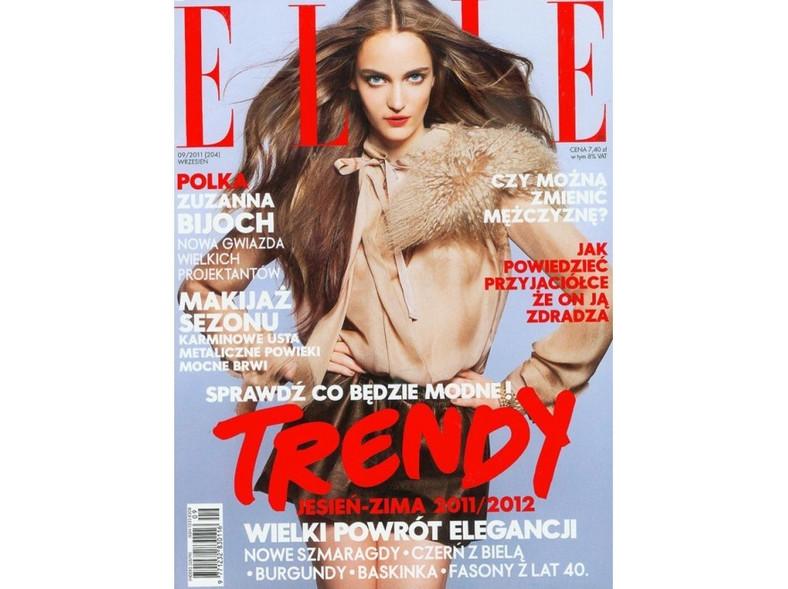 17-letnia Zuzanna Bijoch na okładce polskiego wydania magazynu Elle.