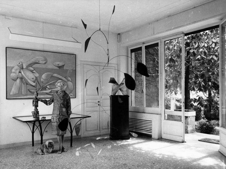 Peggy Guggenheim w Palazzo Venier w latach 60.