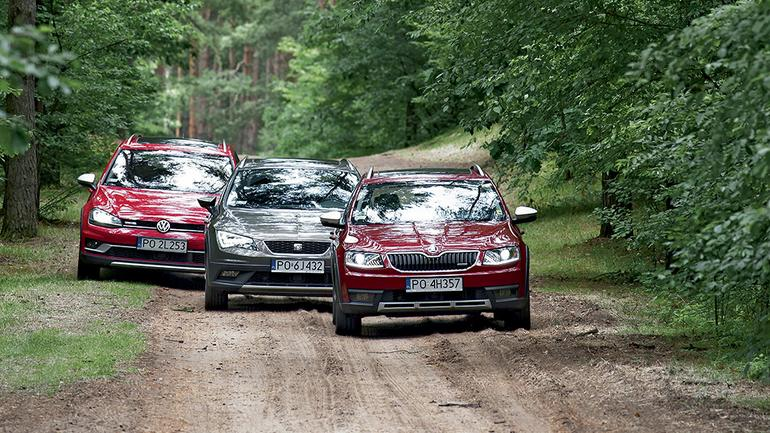 Uterenowione kombi - Seat Leon X-Perience kontra Skoda Octavia Scout i Volkswagen Golf Alltrack