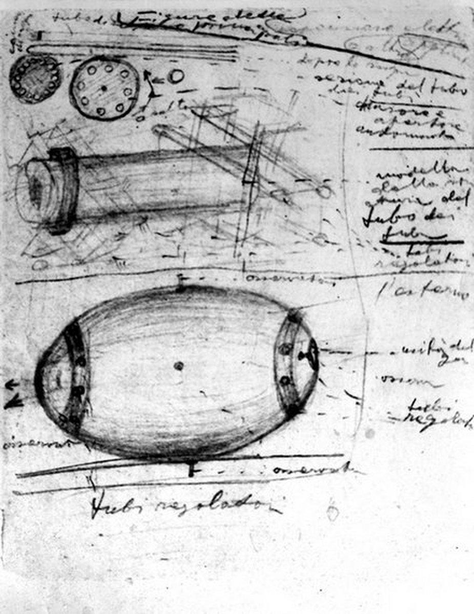 Szkic eteroplanu Maksymiliana Kolbe. Fot. Archiwum cyfrowe