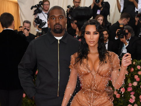 Kim Kardashian and Kanye West [BBC]