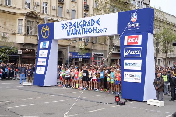 Početak 30. Beogradskog maratona