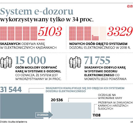 System e-dozoru wykorzystywany tylko w 34 proc.