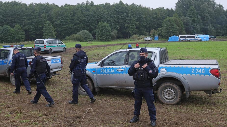 Policja przy granicy polsko-białoruskiej