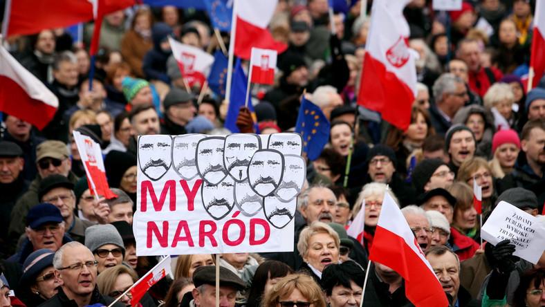 Demonstracja KOD w Krakowie