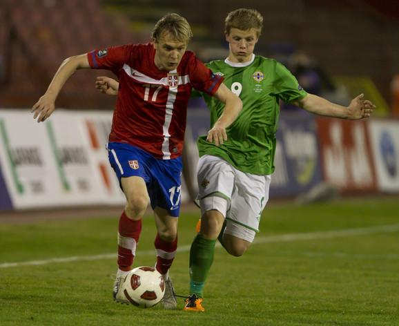 Miloš Krasić u dresu reprezentacije Srbije