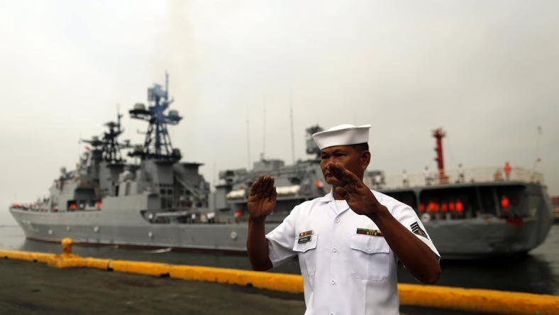 PHILIPPINES RUSSIA DEFENSE (Russian warships in Manila for a goodwill visit)
