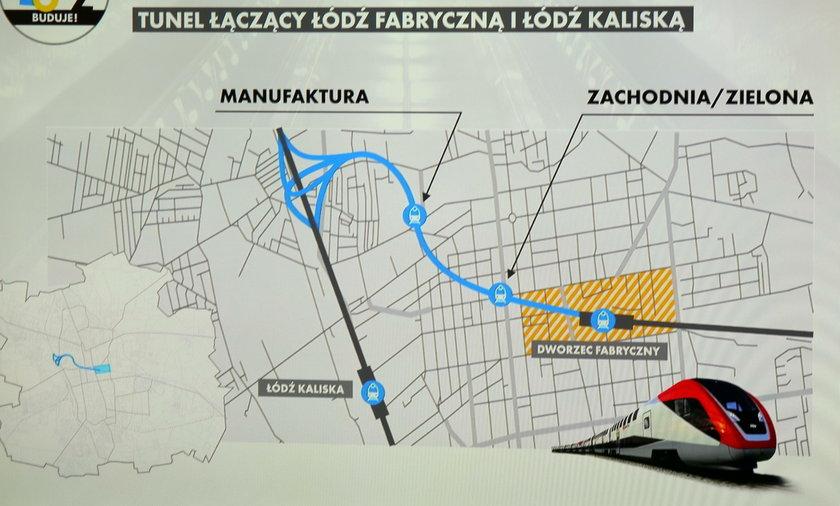 Tunel kolejowy w Łodzi