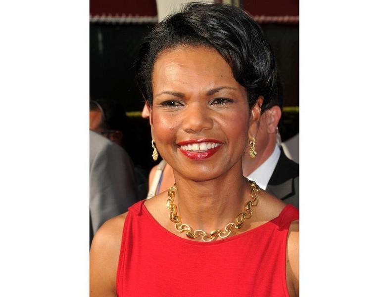 Album ze zdjęciami Condoleezzy Rice w kwaterze Kadafiego