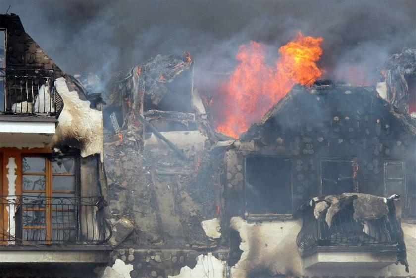Potężny pożar strawił hotel. FOTO