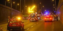 Strażacy ćwiczą w tunelu Wisłostrady